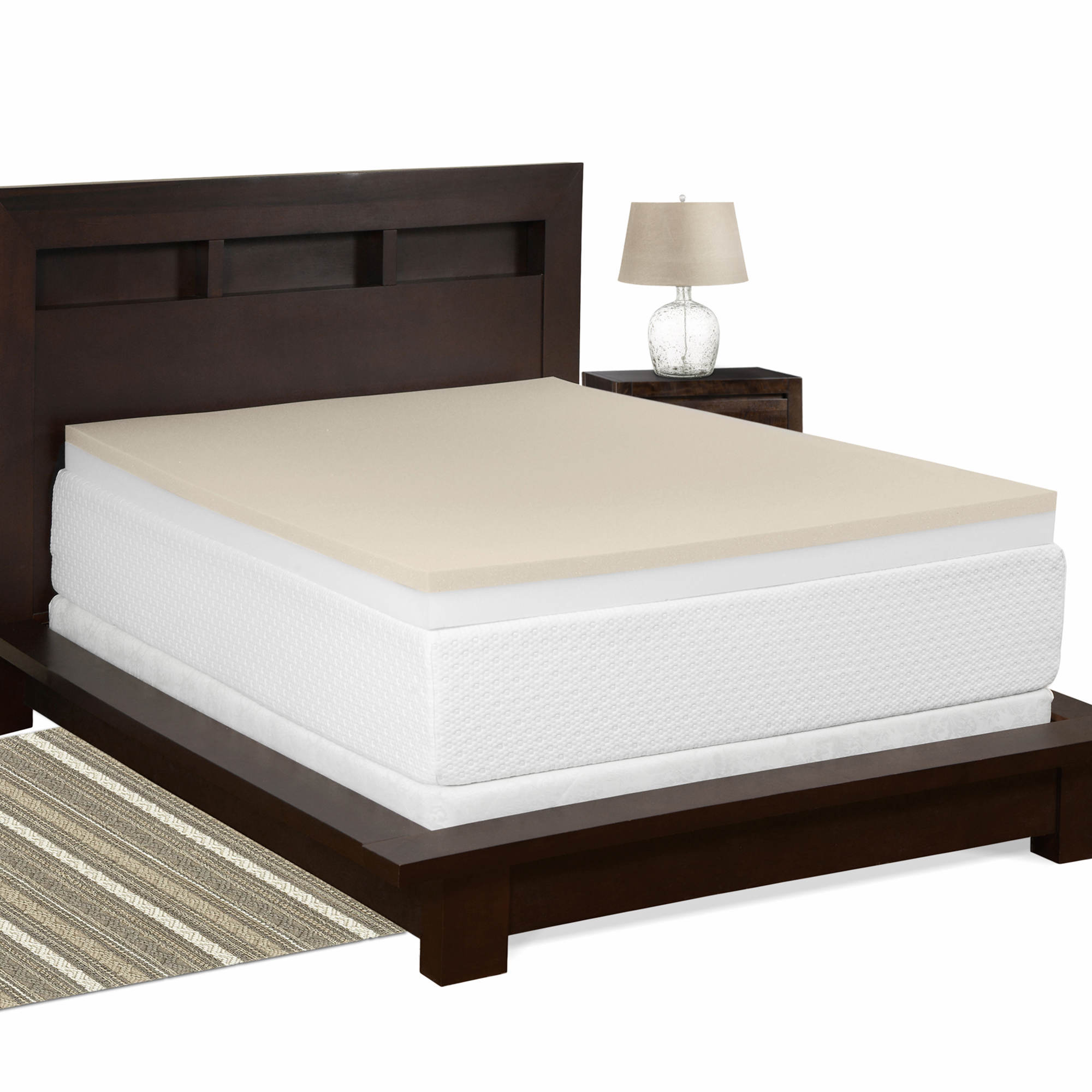 cradlesoft 4 dual layer memory foam queen size revitalizer plus mattress topper bj 39 s. Black Bedroom Furniture Sets. Home Design Ideas
