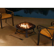 "Sunjoy 30"" Steel Fire Pit - Black"