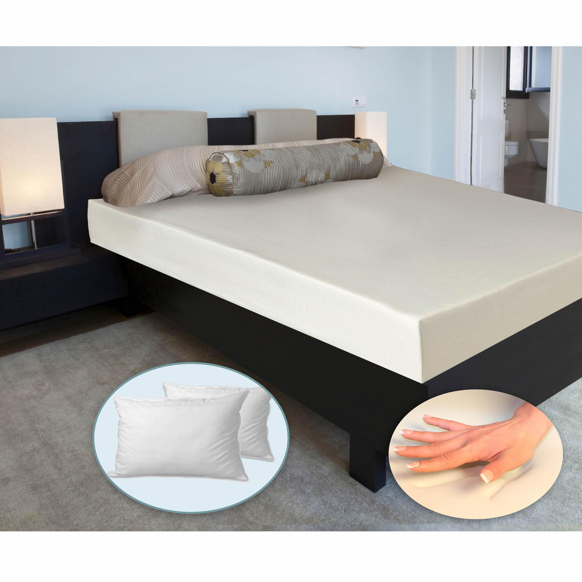 cradlesoft twin xl size 6 memory foam mattress with bonus fiberfill standard pillow bj 39 s. Black Bedroom Furniture Sets. Home Design Ideas