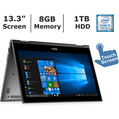 Dell Dell Inspiron 2-in-1 Touchscreen Laptop, Intel Core I58250u Processor