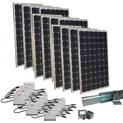 Grape Solar 3 000w Expandable Grid Tied Pv Solar Panel Kit