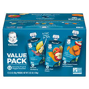Gerber Graduates Grabbers Fruit & Vegetable Pouches, 12 ct./3.5 oz..