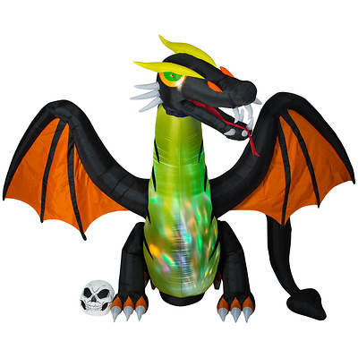 Gemmy 12' Self Inflating Dragon with Color Change and Head Motion