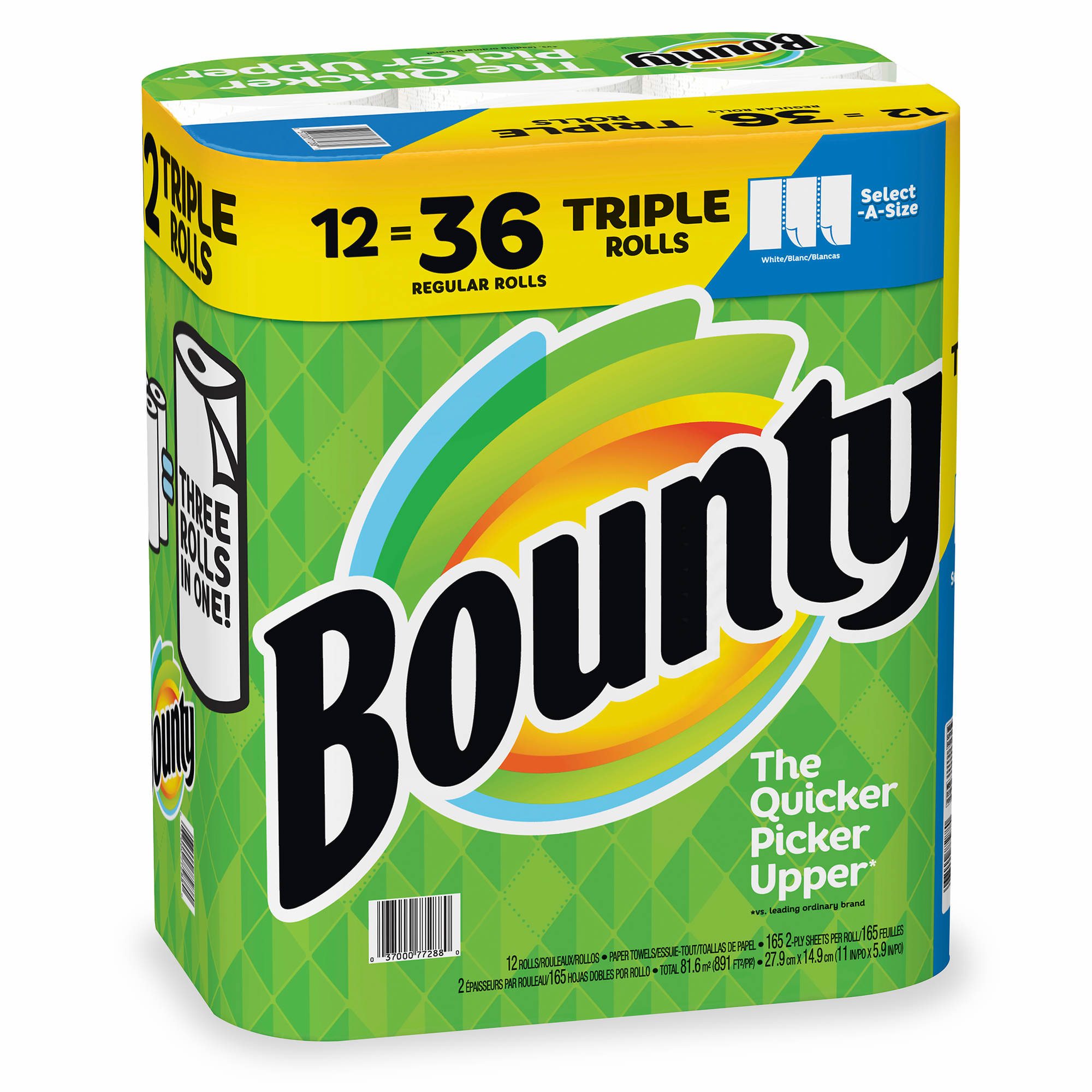Bounty Select-A-Size Triple Roll Paper Towels, 12 Pk