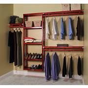 John Louis Home Simplicity 6'-10' Shelving System - Red Mahogany