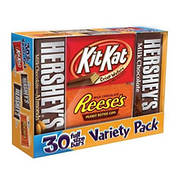 Hershey's Chocolate Full-Size Variety Pack, 30 ct.