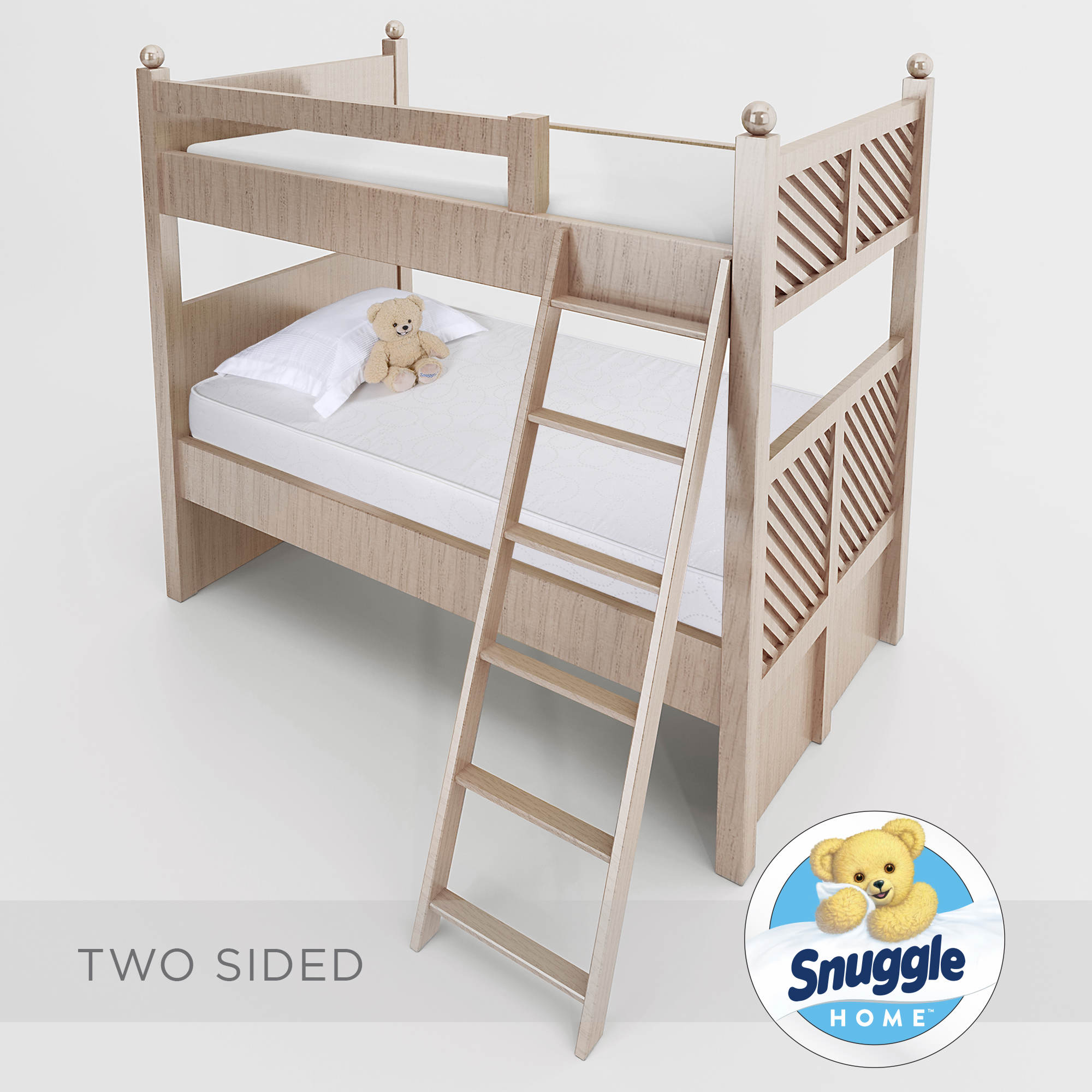 snuggle home twin size 6 foam bunk bed mattress bj 39 s wholesale club. Black Bedroom Furniture Sets. Home Design Ideas