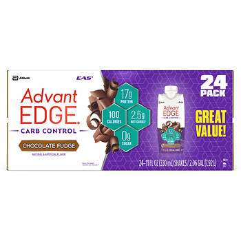 Eas Advantedge Carb Control Chocolate Fudge Protein Shake 24 Pk11