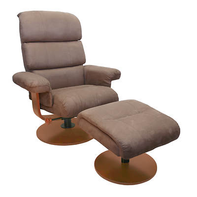 Mac Motion Chairs Microfiber Swivel Recliner With Ottoman