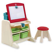 Step2 Flip & Doodle Easel Desk with Stool