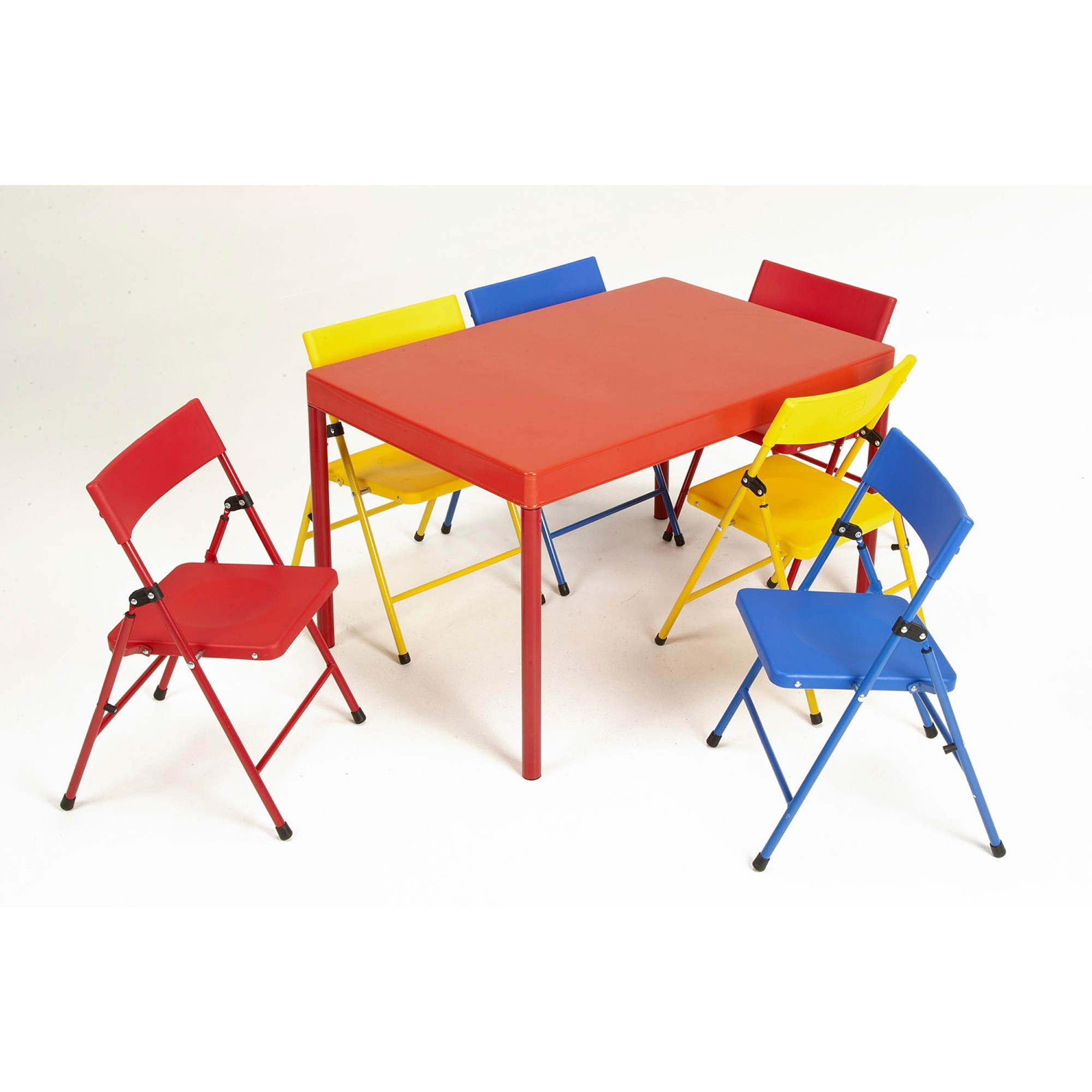 Cosco Products 7 Pc Kids Pinch Free Folding Table And