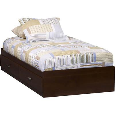 Ameriwood Mates Twin Size Storage Bed Resort Cherry Bj