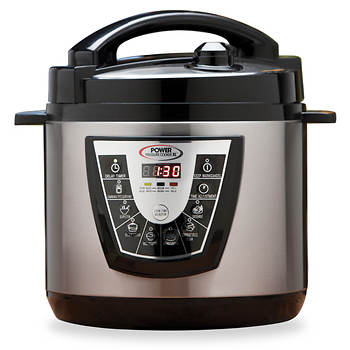 Power 8 Qt Pressure Cooker XL With Bonus Items
