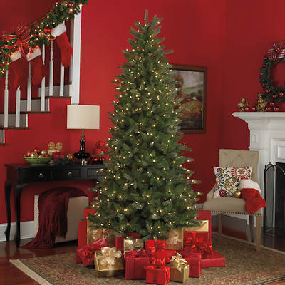 "Sylvania 7.5"" Slim Michigan Fir LED Lighted Tree"