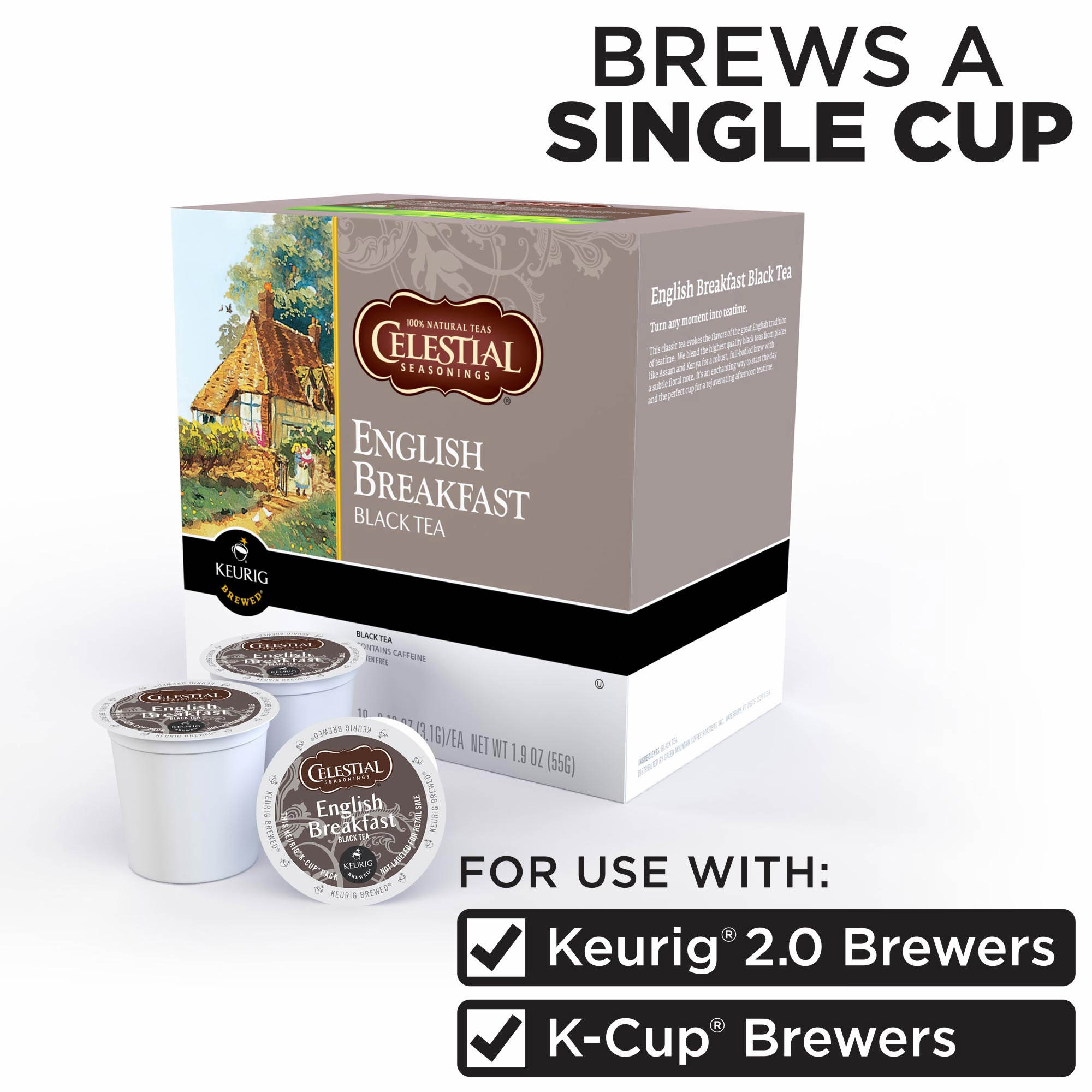 Celestial Seasonings English Breakfast Black Tea K Cups