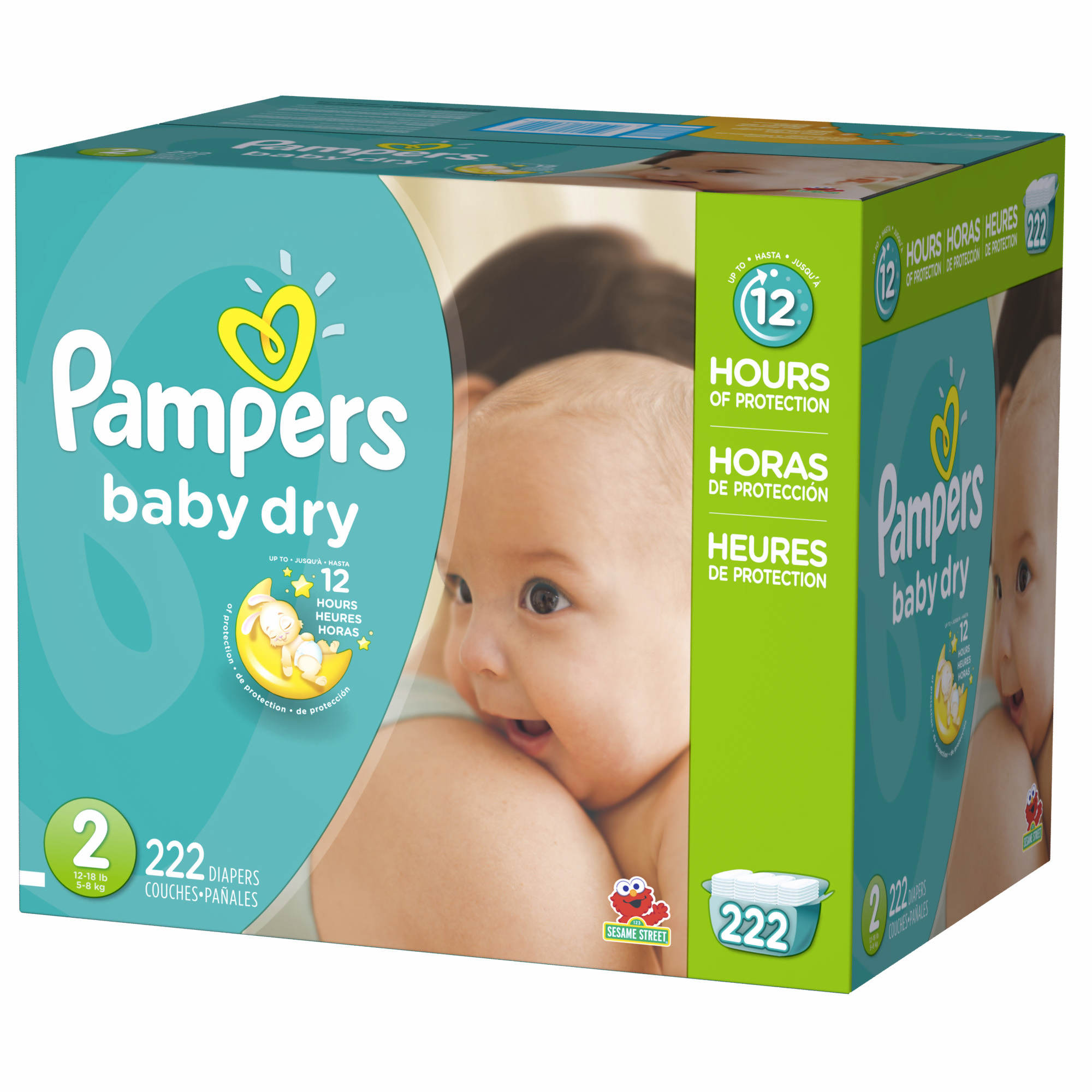 Your baby can get up to 12 hours of overnight dryness with Pampers Baby-Dry diapers. They have 3 Extra Absorb Channels that help distribute wetness evenly and lock it away better. Sizes N, 1, and 2 have a color-changing Wetness Indicator to help you know when it might be time for a babipanggangbangka.tks: