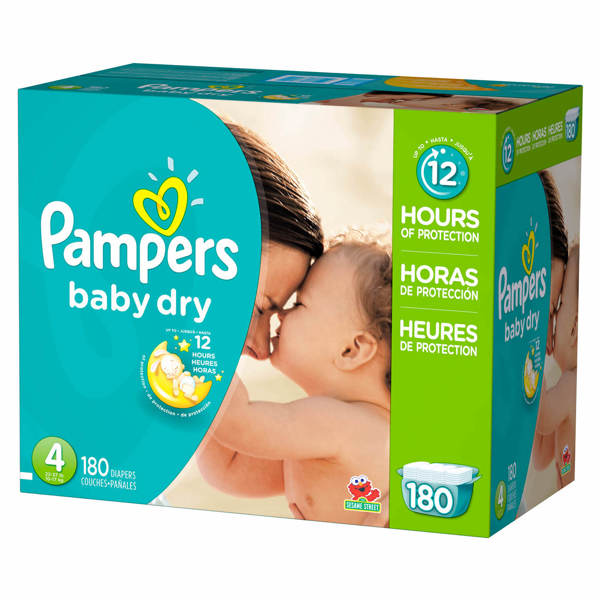 With Pampers® Baby Dry diapers, your baby can get up to 12 hours of overnight protection, which helps them get the uninterrupted sleep they need for a great morning. Plus, Baby Dry has 3 layers of absorbency versus only 2 in an ordinary diaper.