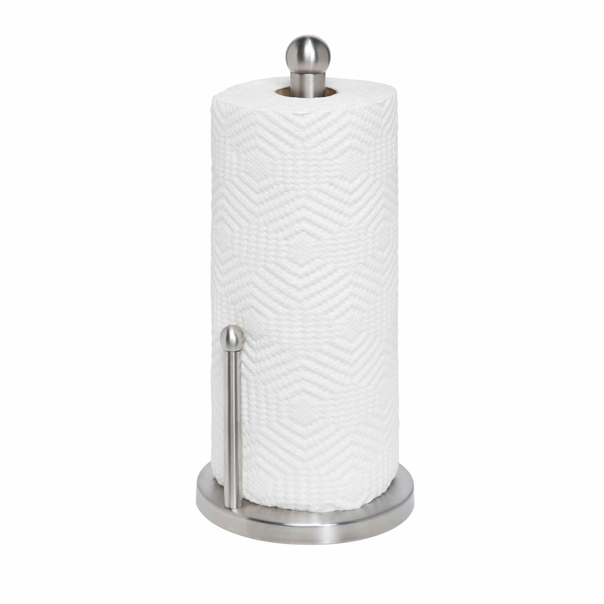 Travel Paper Towel Holder: Honey-Can-Do Stainless Steel Paper Towel Holder
