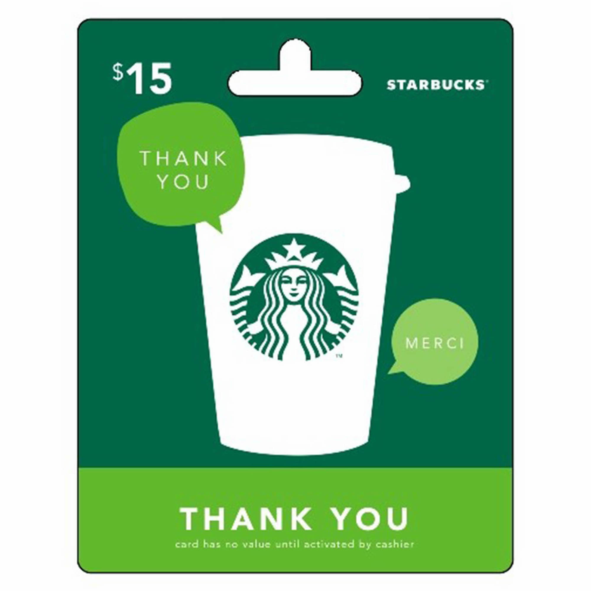 15 Starbucks Gift Card Thank You Bjs Wholesale Club