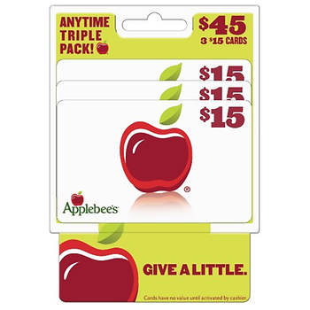 applebees gift card special 15 applebee s gift card 3 pk bj s wholesale club 4208
