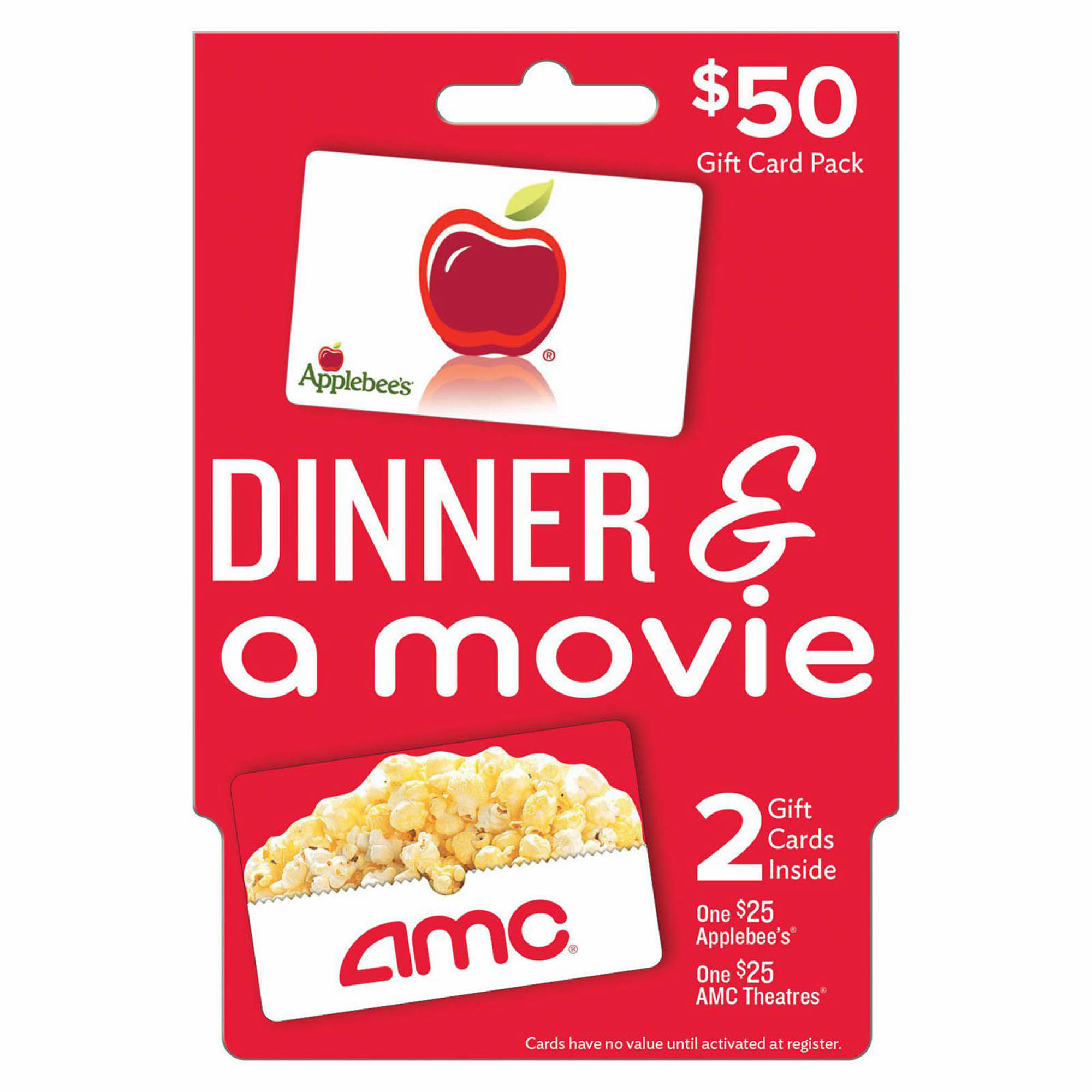bj s restaurant gift card 50 dinner and a movie gift card pack bj s wholesale club 5438