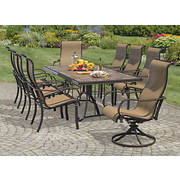Living Home Outdoors Calabria 9-Pc. Dining Set