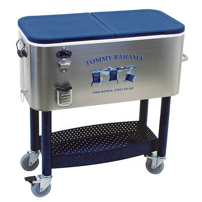 Tommy Bahama Patio Cooler 77 Qt Stainless Steel Ebay