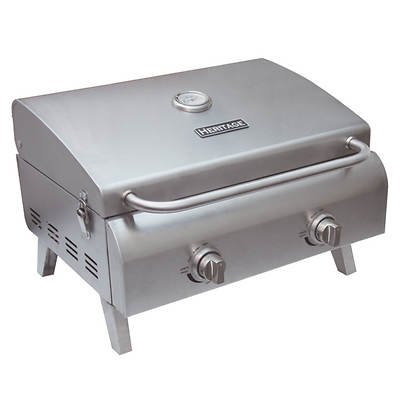 Heritage Portable 2-burner Gas Grill - Stainless Steel