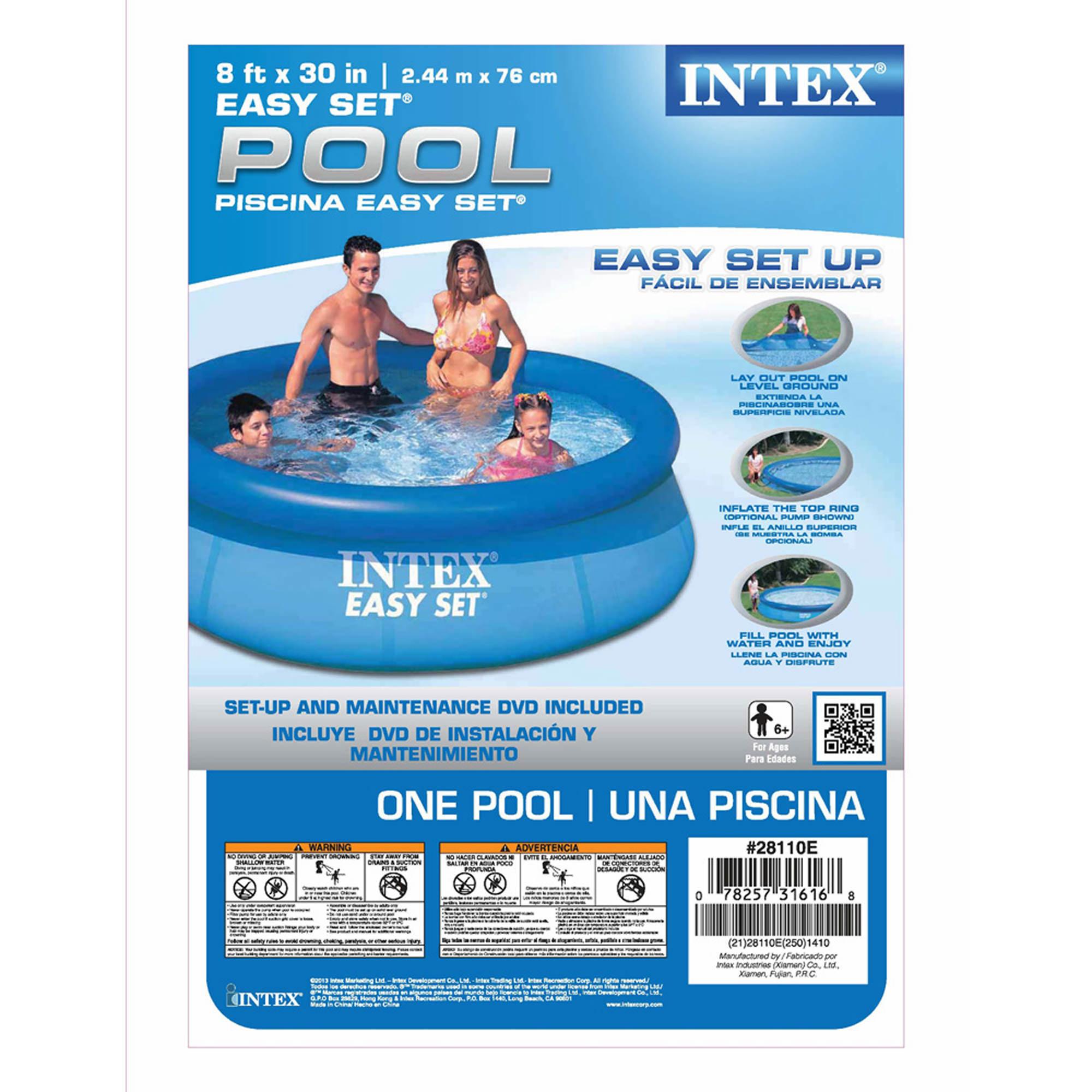 intex easy set 8 39 x 30 round pool bj 39 s wholesale club. Black Bedroom Furniture Sets. Home Design Ideas