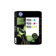 HP 920XL Color Ink Cartridges, 3 pk.