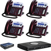 XBLUE X-16 4-Line Telephone System Bundle with 4 Phones and Cordless T