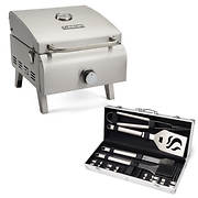 Cuisinart Professional Portable Gas Grill with 14-Pc. Tool Set