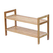 Oceanstar 2 Tier Bamboo Shoe Rack - Natural