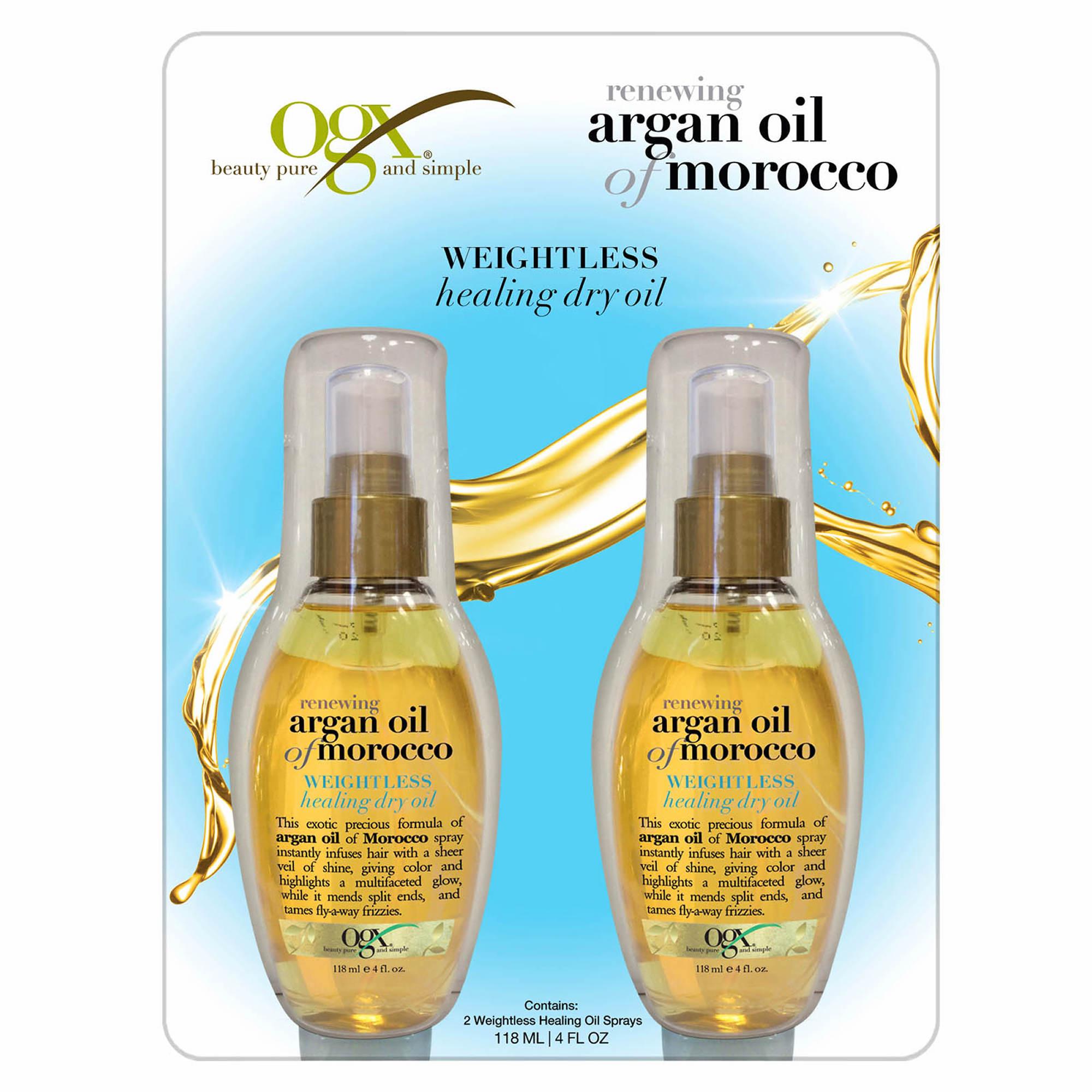 ogx renewing argan oil of morocco 2 pk 4 oz bjs. Black Bedroom Furniture Sets. Home Design Ideas