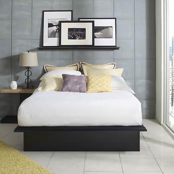 Contour Rest Domenic Full-Size Metal Platform Bed Frame - Black ...