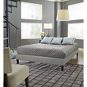 Contour Rest Blaine Queen-Size Simulated Leather Platform Bed Frame -