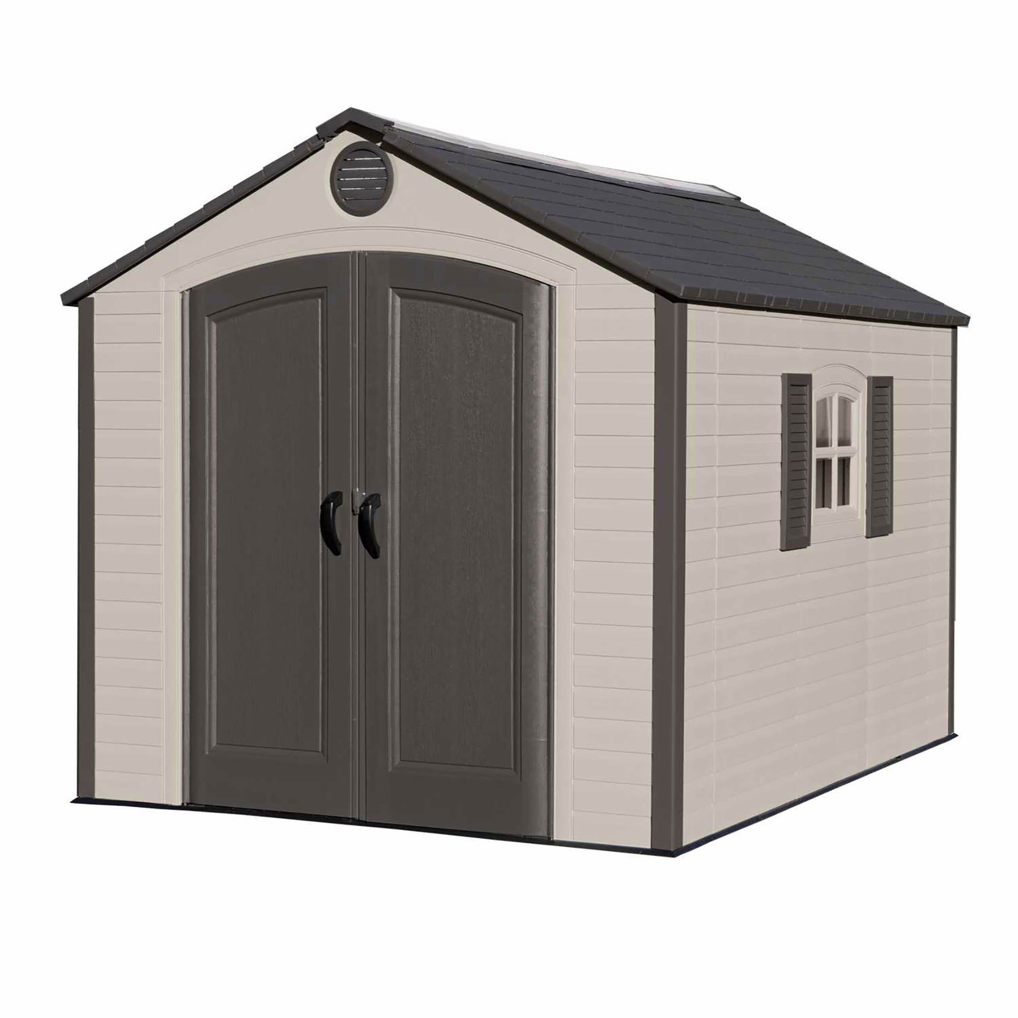 Lifetime 8' x 10' Outdoor Storage Shed - Brown/Tan - BJ's ...