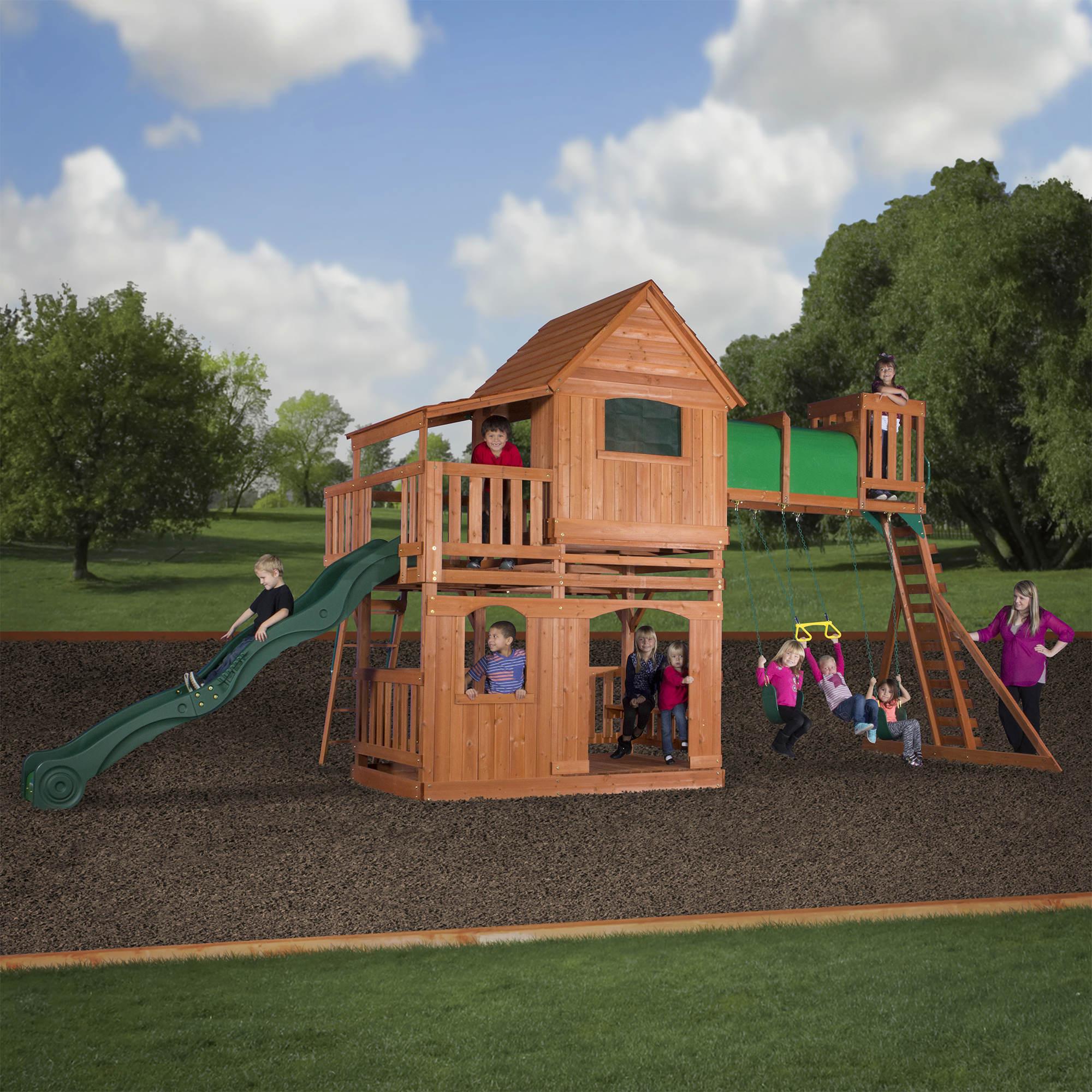 Backyard Discovery Woodridge Ii All Cedar Swing Set Bj S