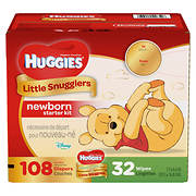 Huggies Little Snugglers Newborn Diapers and Gentle Wipes Kit