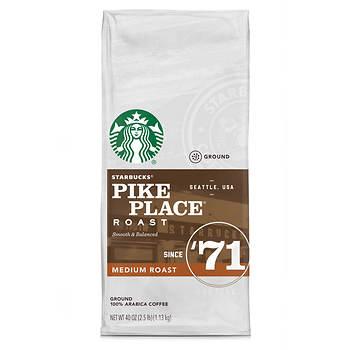 Starbucks Pike Place Medium Roast Ground Coffee, 40 oz.