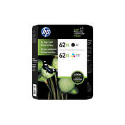 HP 62XL Combo Ink Cartridges, 2 pk.