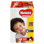 Huggies Snug & Dry Size 5 Diapers, 180 ct.