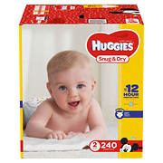 Huggies Snug & Dry Size 2 Diapers, 240 ct.
