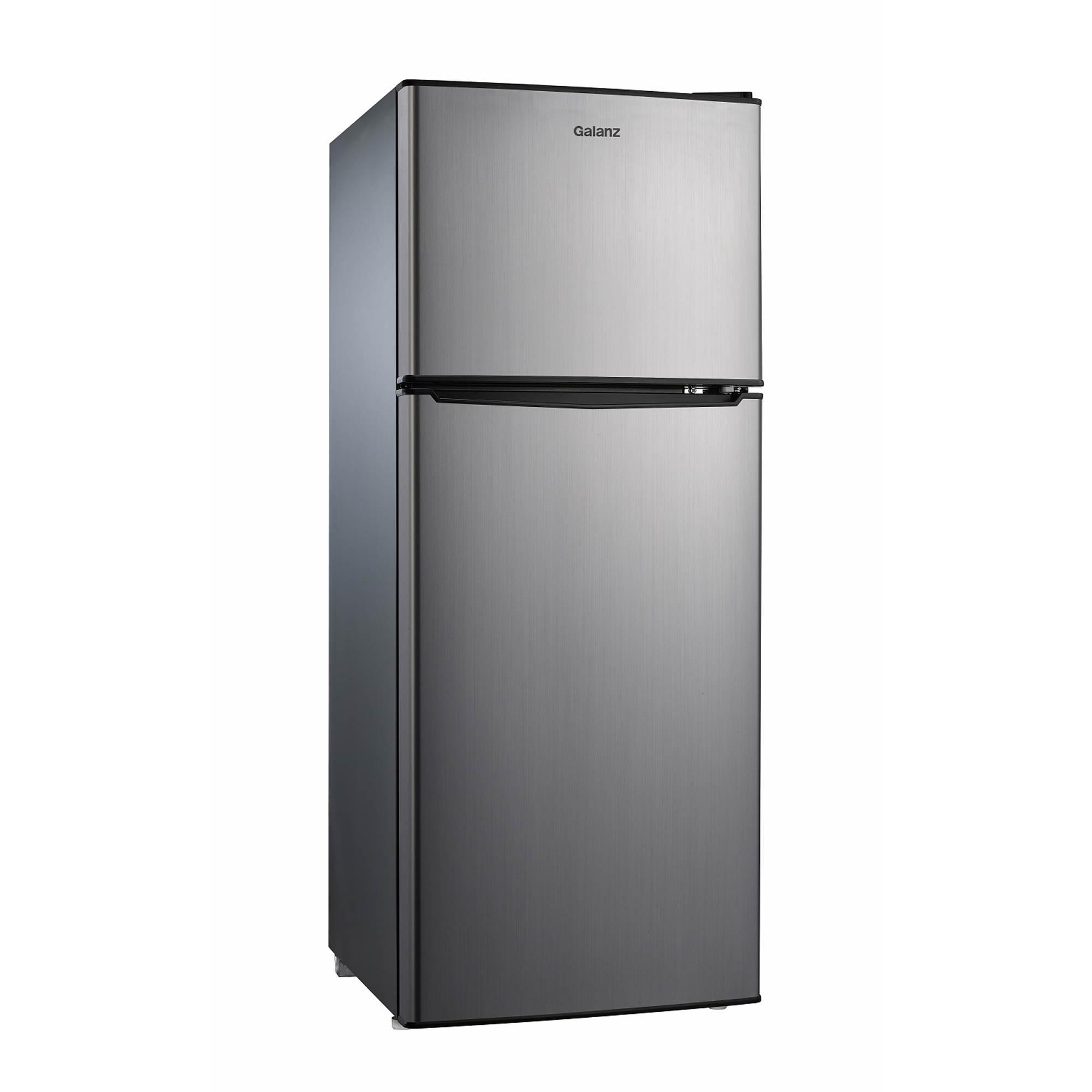 Galanz 4.6-Cu.-Ft. Dual-Door Stainless Refrigerator