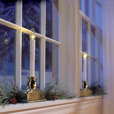 Berkley Jensen LED Window Candles, 4 pk.