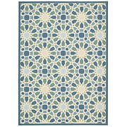 "Nourison Waverly Sun 'n Shade 7'5"" x 5'3"" Indoor/Outdoor Rug - Porcela"
