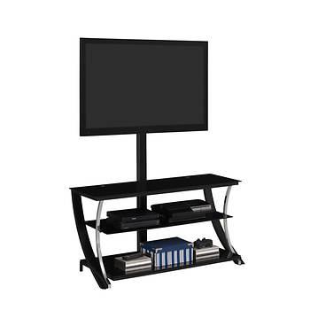 Tamarack Triple Play 55 Tv Stand Black Gloss Bjs Wholesale Club