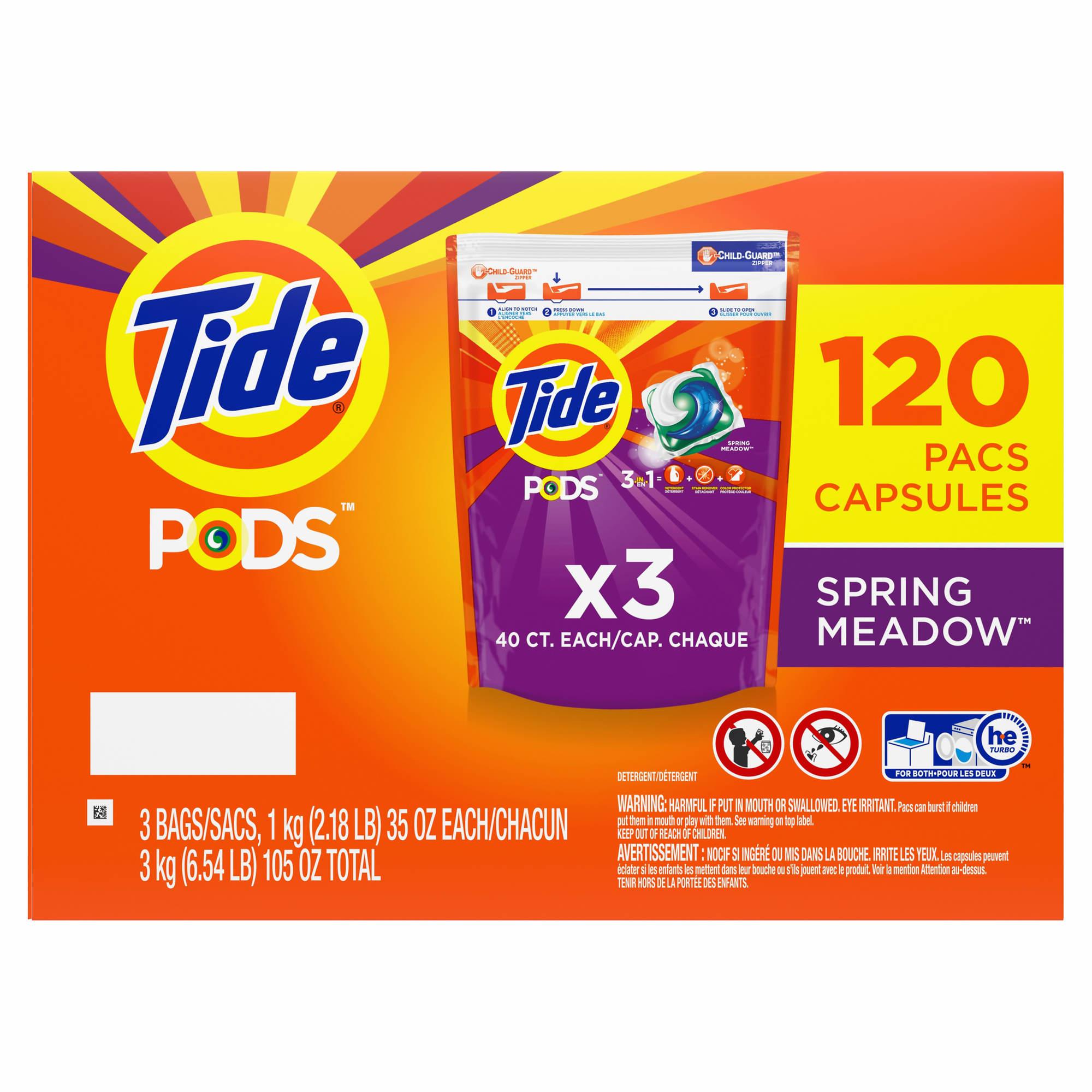 tide pods spring meadow laundry detergent pacs 3 pk 40 ct bjs