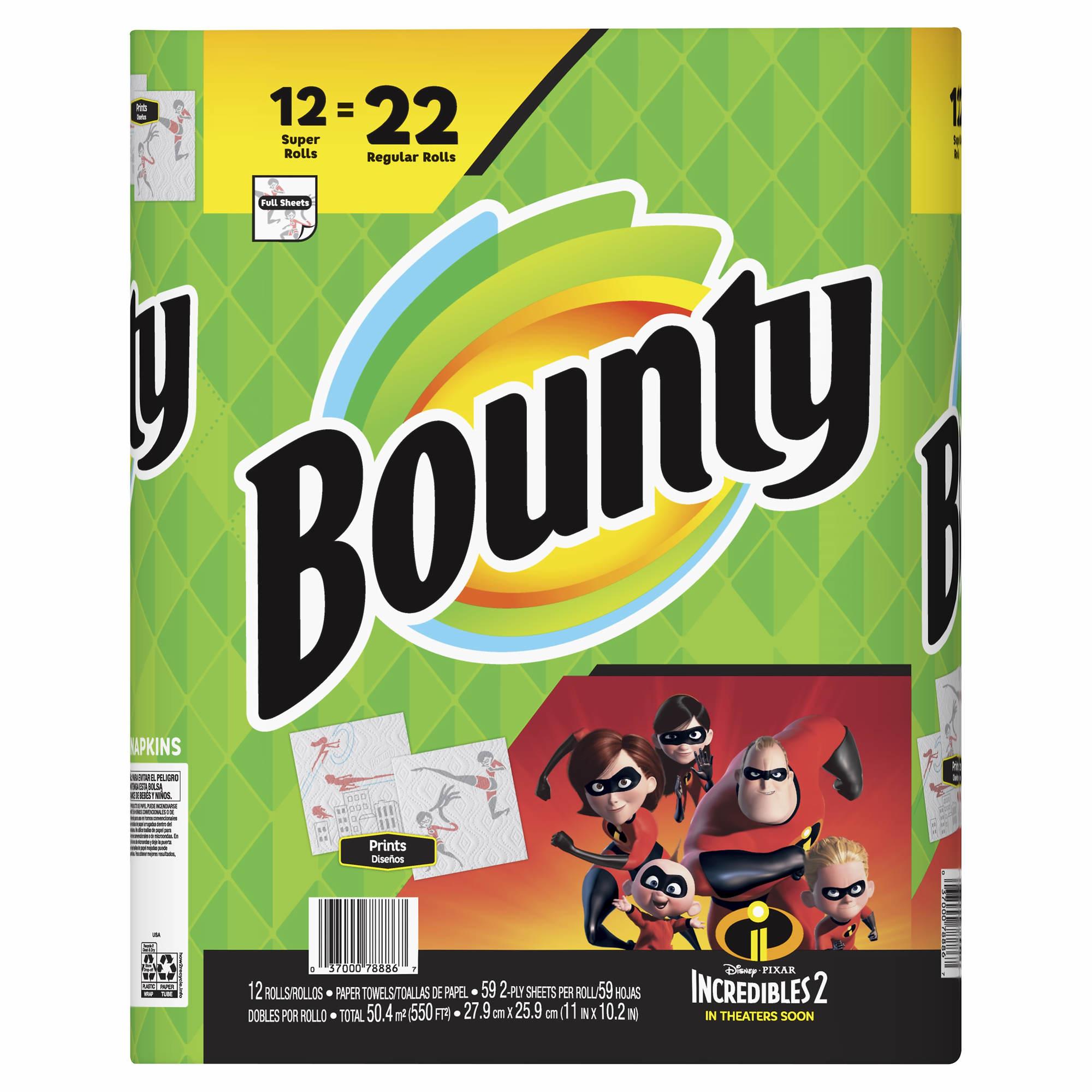 Bounty Paper Towels Fall Prints: Bounty Super Roll Paper Towels, 12 Pk.