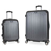 "Kenneth Cole Reaction 20"" and 28"" Hardside Luggage Set - Charcoal"